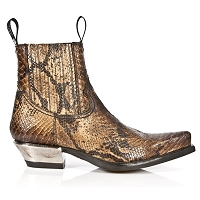 Biege Python Leather