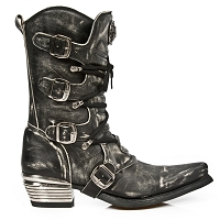 Vintage Grey Scuff  Western Boots