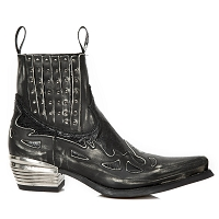 Vintage Black Python Leather Westerns