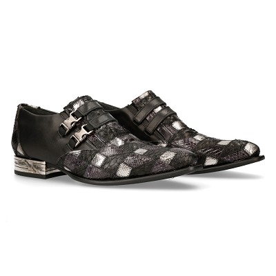 Classy Silver Patchwork VIP Leather Shoes