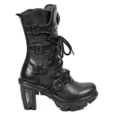 Quality ALL Black Leather Ladies Boots