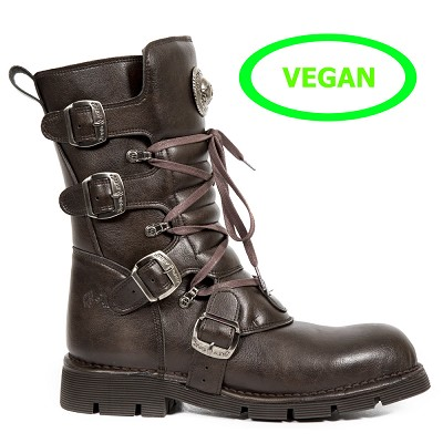 Chocolate Brown Vegan New Rock Boots