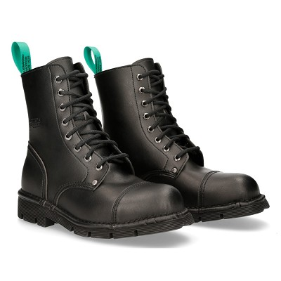 High Quality Black Vegan Classic New Rock Combat Boots. Traditional Lacing up the front!